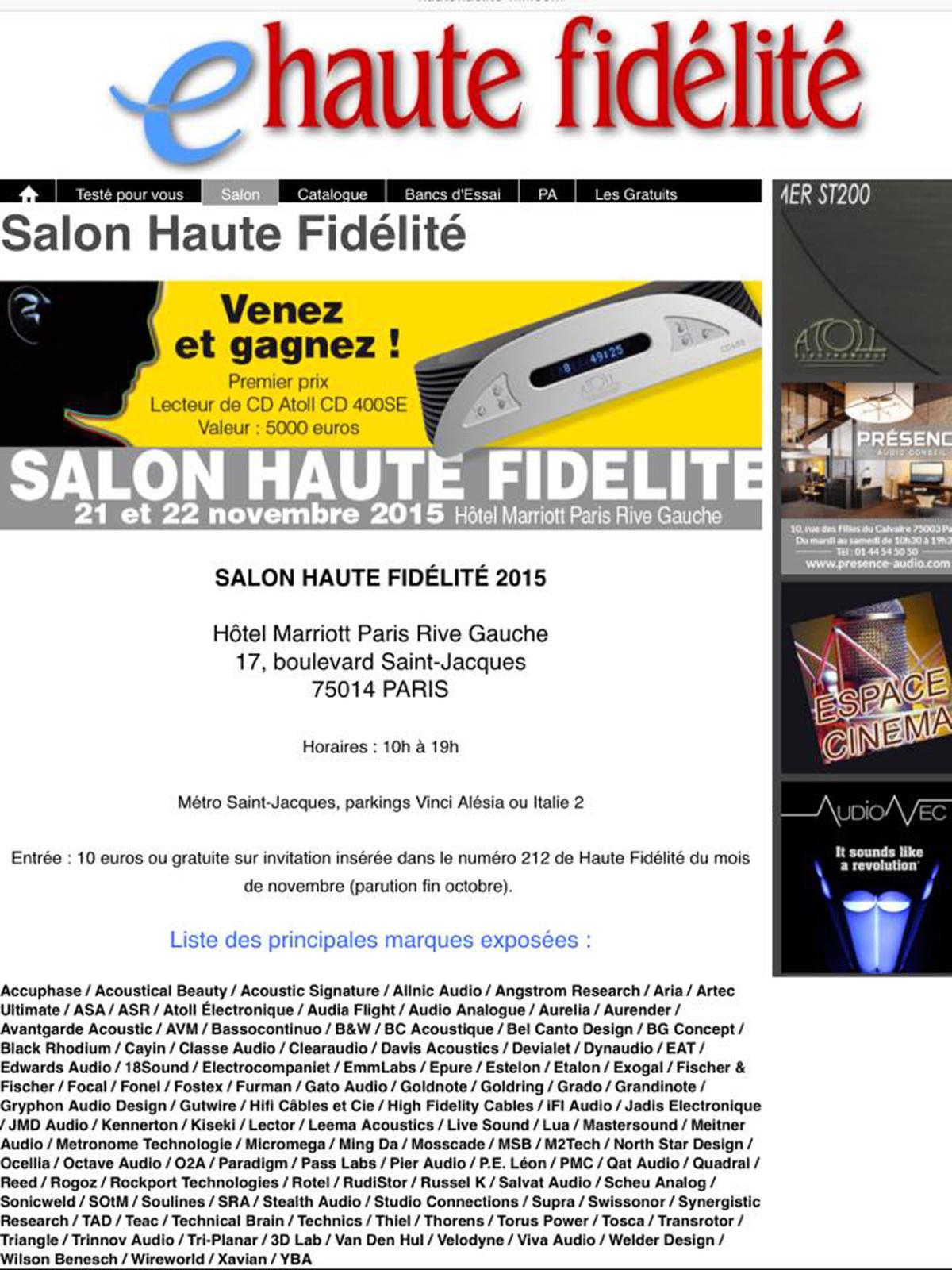 Welder design actus for Haute fidelite